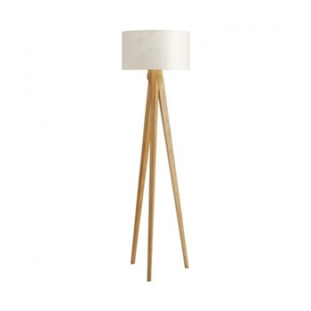 Tripod Wooden floor lamp, D49 x H180cm, ash/white