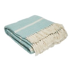 Oxford Stripe Throw, L230 x W130cm, teal