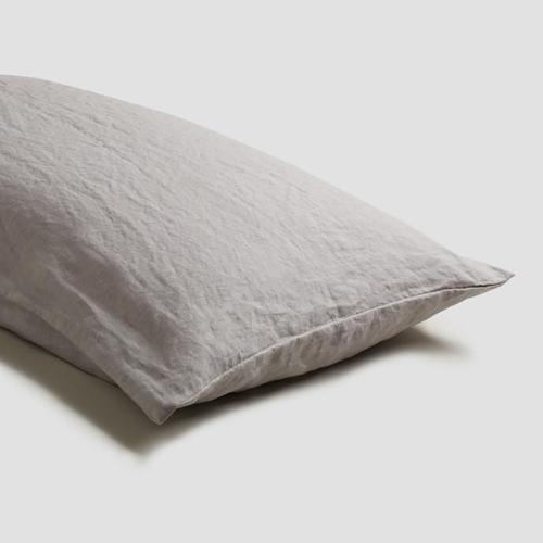 Pair of standard pillowcases, 50 x 75cm, Dove Grey