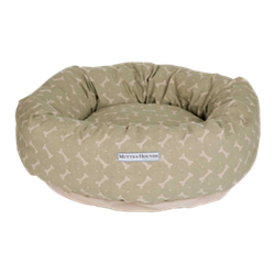 Bones Sage Donut Dog Beds