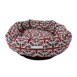 Union Jack Donut Dog Beds