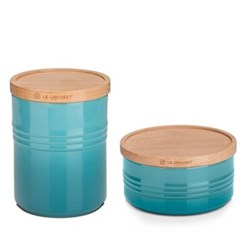 Teal Storage Jars