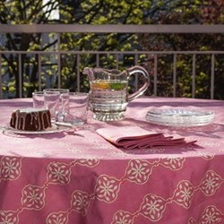 Stripes & Tiles Rose & Lemon Table Linen