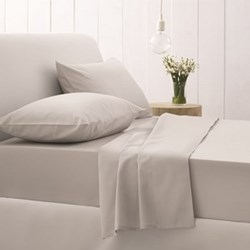 500TC Cotton Sateen Silver Bed Linen