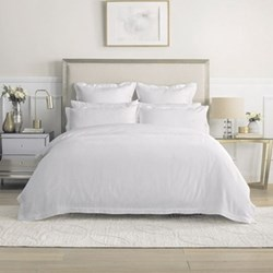 Columbus Snow Cotton Sateen Bed Linen