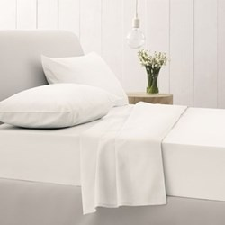500TC Cotton Sateen Snow Bed Linen