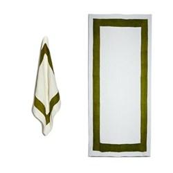 Cornice Avocado Green Table Linen