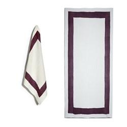 Cornice Grape Purple Table Linen