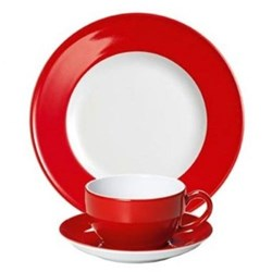 Solid Colour Bright Red Dinnerware