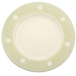 White Spot - Green Dinnerware
