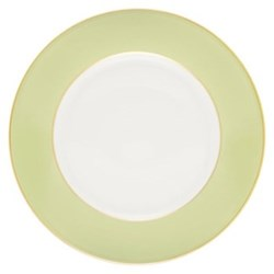 Sous Le Soleil Pastel Green - Gold Band Dinnerware