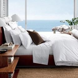Glen Plaid White Bed Linen