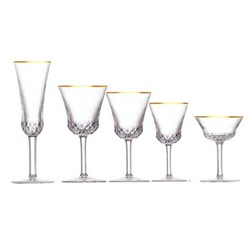 Apollo Gold Rim Stemware