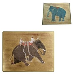 Elephant Tablemats & Coasters Gold