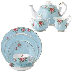 Polka Blue Tea Set