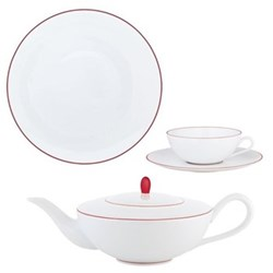 Monceau Couleurs Vermilion Red Dinnerware