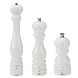 Paris White Lacquer Finish Salt & Pepper Mills