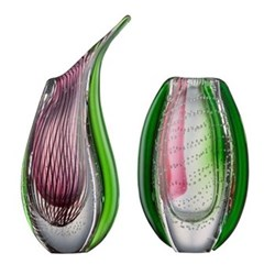 Dewdrop Coloured Glass Vases
