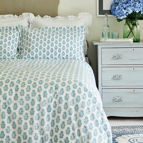Tree of Life Bed Linen - Cornflower Blue